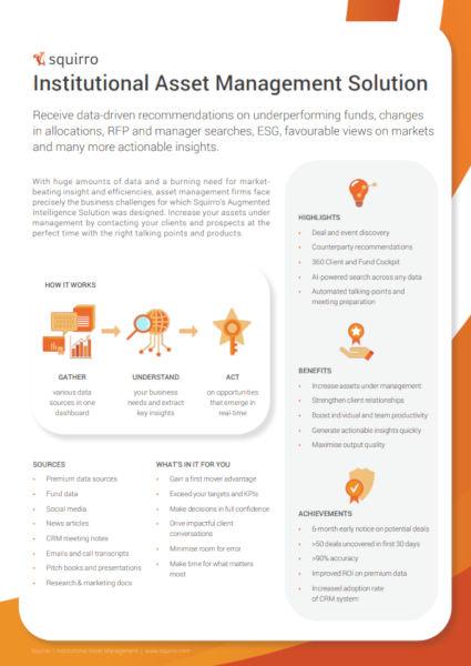 Squirro Asset Management Datasheet