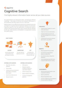 Squirro Cognitive Search Datasheet